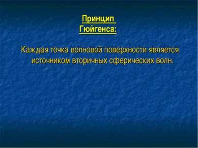 Принцип Гюйгенса: Каждая точка волновой поверхности является источником втори...