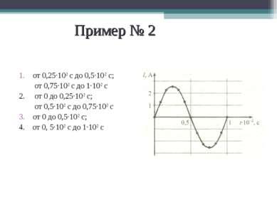 Пример № 2 от 0,25·10-2 с до 0,5·10-2 с; от 0,75·10-2 с до 1·10-2 с 2. от 0 д...