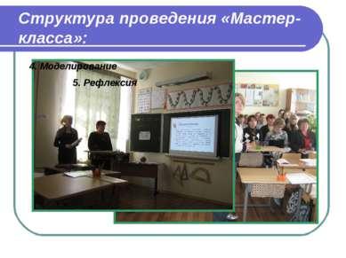 Структура проведения «Мастер-класса»: 5. Рефлексия 4. Моделирование