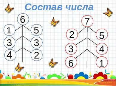 * * Состав числа 1 6 33 3 3 4 5 3 2 7 2 4 6 5 3 1