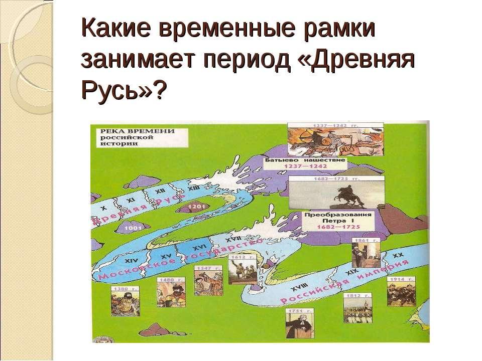 Какие временные рамки занимает период «Древняя Русь»?