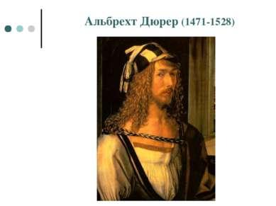 Альбрехт Дюрер (1471-1528)