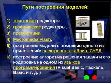 * Пути построения моделей: текстовые редакторы, графические редакторы, презен...