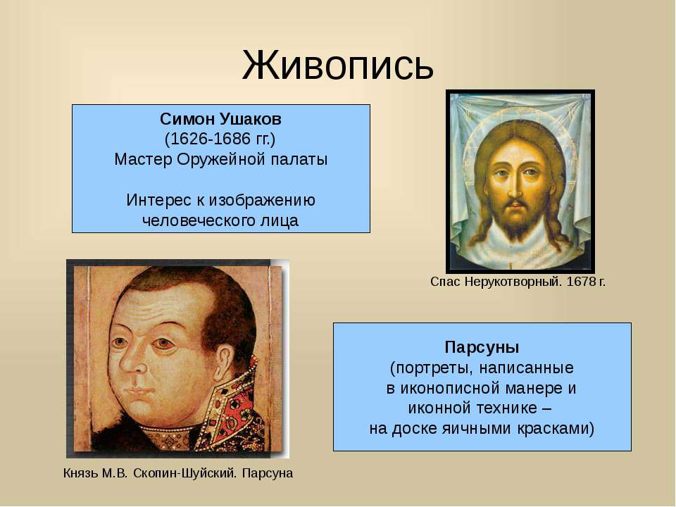 Живопись Симон Ушаков (1626-1686 гг.) Мастер Оружейной палаты Интерес к изобр...