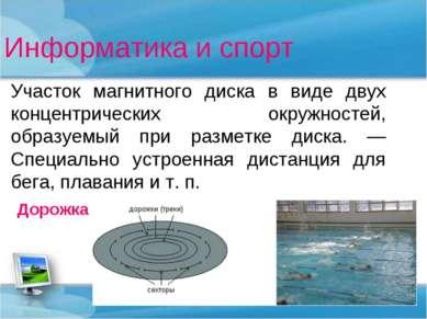 Информатика и спорт Участок магнитного диска в виде двух концентрических окру...