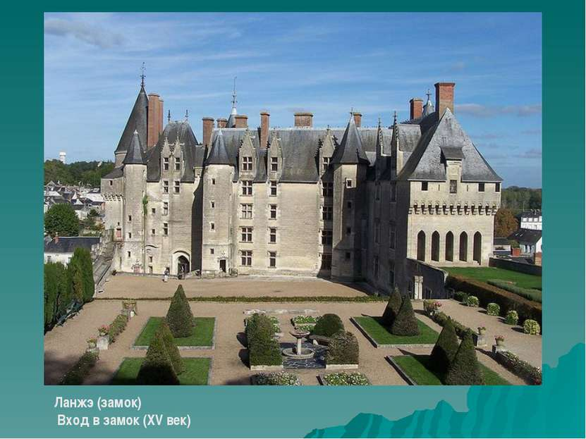 Ланжэ (замок) Вход в замок (XV век)