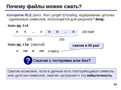 * Почему файлы можно сжать? Алгоритм RLE (англ. Run Length Encoding, кодирова...