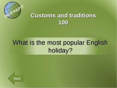 Customs and traditions 100 Back