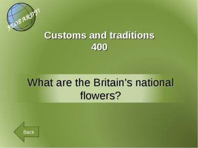 Customs and traditions 400 Back