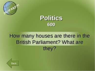 Politics 600 Back