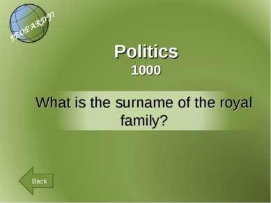 Politics 1000 Back