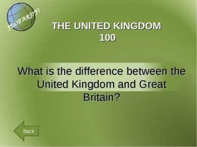 THE UNITED KINGDOM 100 Back