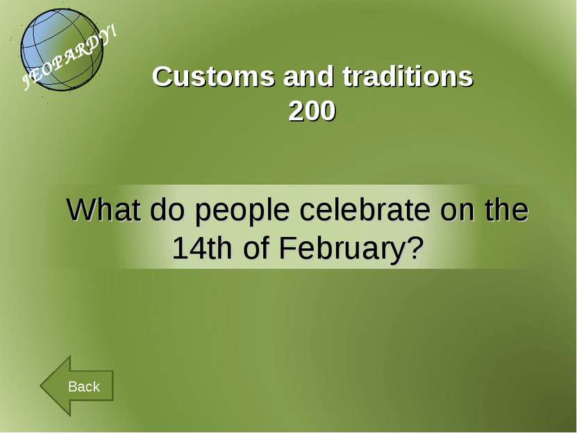 Customs and traditions 200 Back