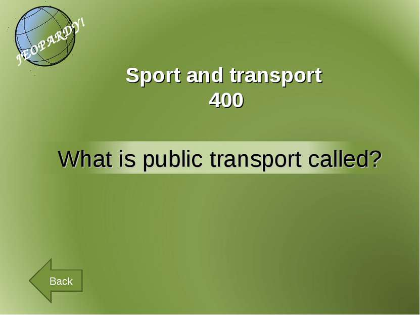 Sport and transport 400 Back