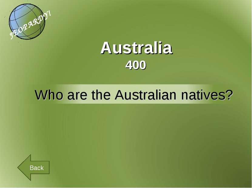 Australia 400 Back