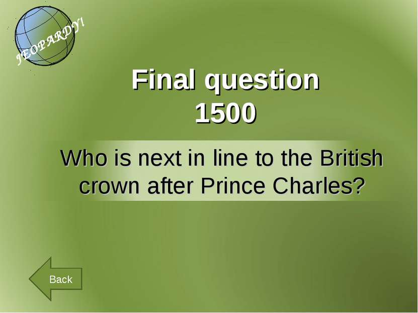 Final question 1500 Back