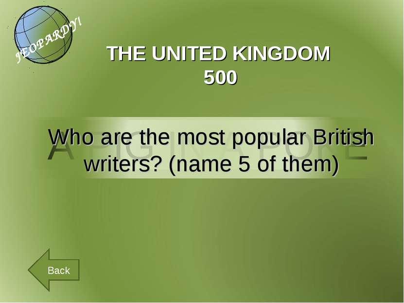 THE UNITED KINGDOM 500 Back