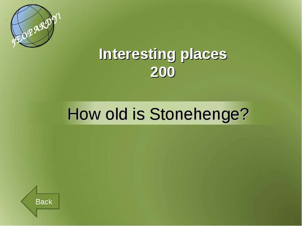 Interesting places 200 Back