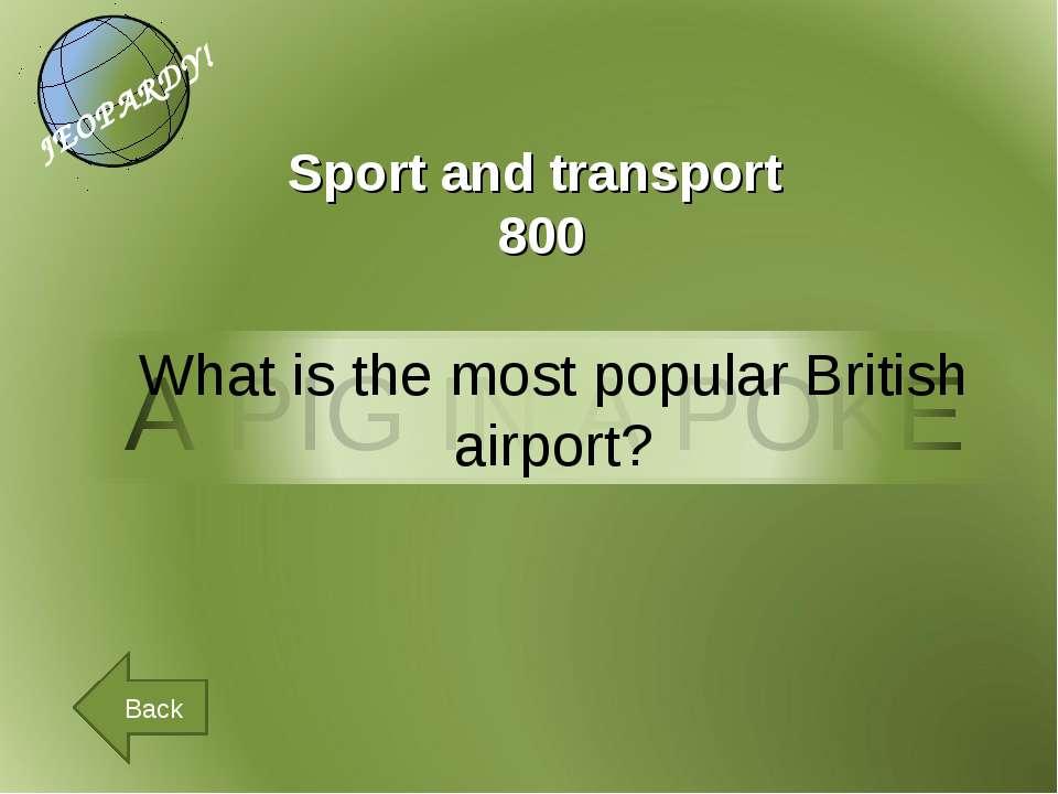 Back Sport and transport 800