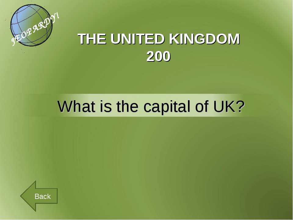 THE UNITED KINGDOM 200 Back