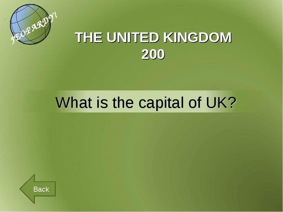 THE UNITED KINGDOM 200 Back
