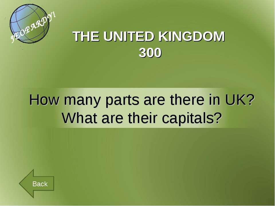 THE UNITED KINGDOM 300 Back