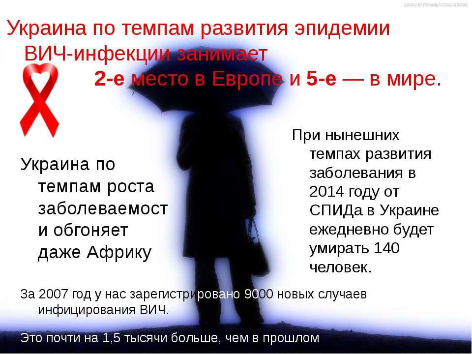 Украина по темпам развития эпидемии ВИЧ-инфекции занимает 2-е место в Европе ...
