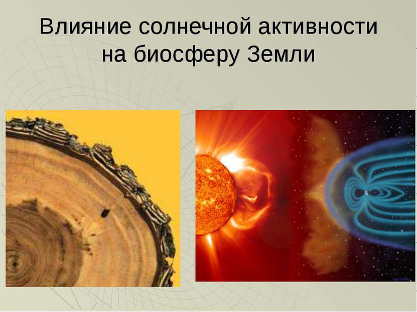 Влияние солнечной активности на биосферу Земли