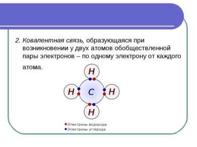 2. Ковалентная связь, образующаяся при возникновении у двух атомов обобществл...