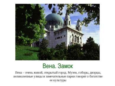 Вена. Замок Вена – очень живой, открытый город. Музеи, соборы, дворцы, велико...