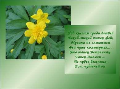 Под кустом среди ветвей Тихий-тихий танец фей; Музыка не слышится Феи чуть ко...