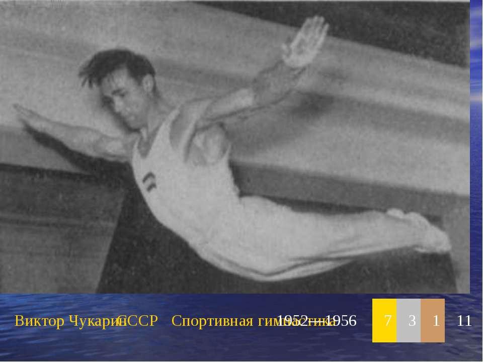 Виктор Чукарин СССР Спортивная гимнастика 1952—1956 7 3 1 11