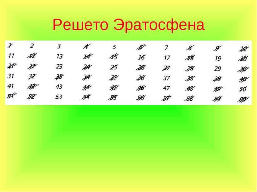 Решето Эратосфена