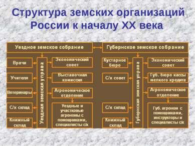 Структура земских организаций России к началу ХХ века
