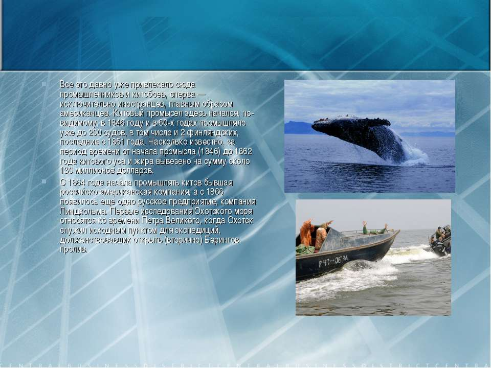 Все это давно уже привлекало сюда промышленников и китобоев, сперва — исключи...