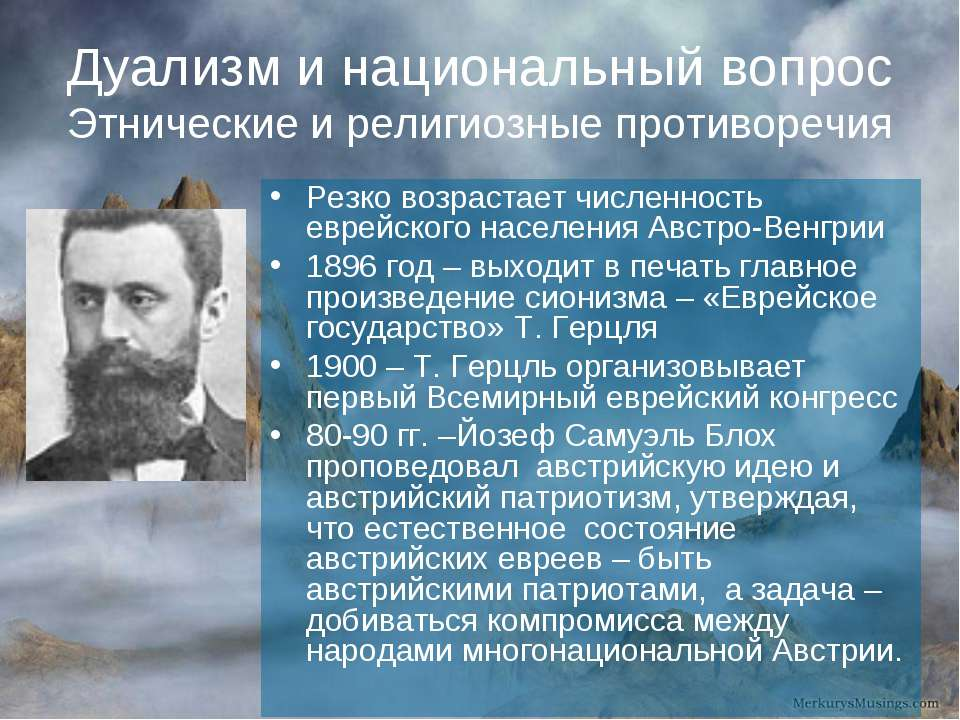 Дуализм и национальный вопрос Этнические и религиозные противоречия Резко воз...