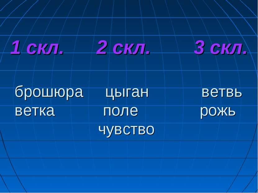 1 скл. 2 скл. 3 скл. брошюра цыган ветвь ветка поле рожь чувство