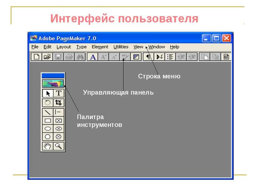 Интерфейс пользователя ...