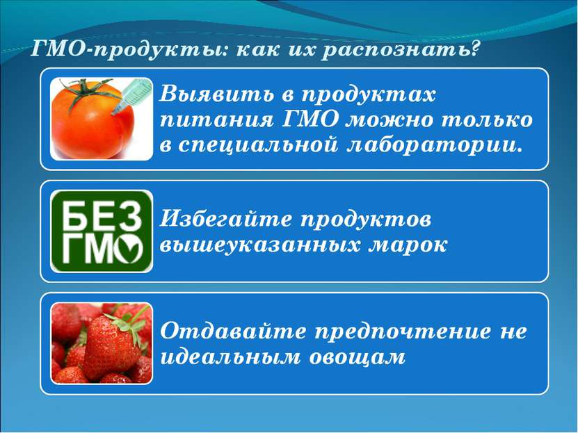 ГМО-продукты: как их распознать?