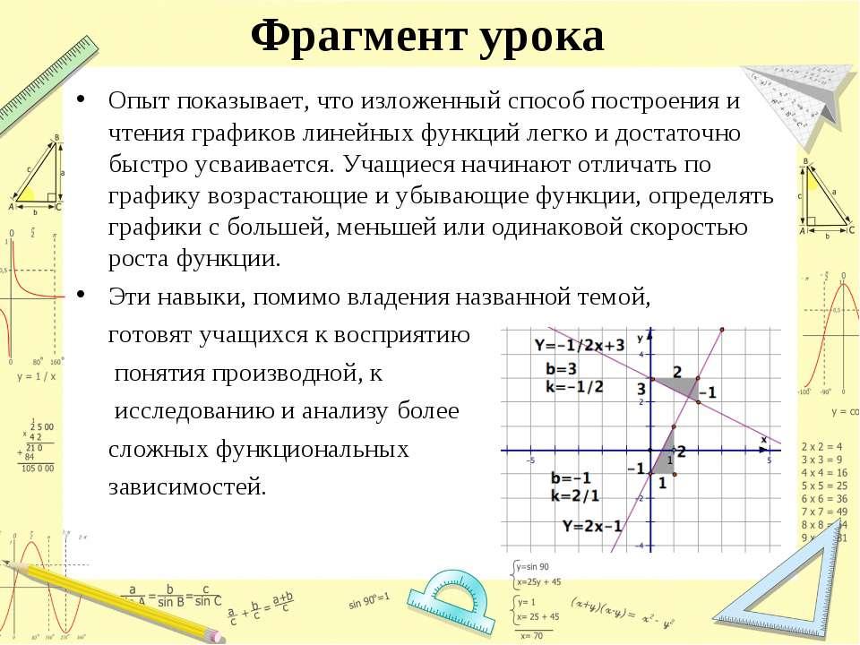 Фрагмент урока Опыт показывает, что изложенный способ построения и чтения гра...
