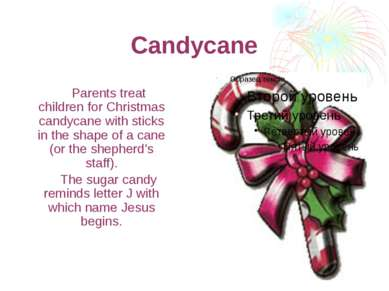 Candycane Parents treat children for Christmas candycane with sticks in the s...