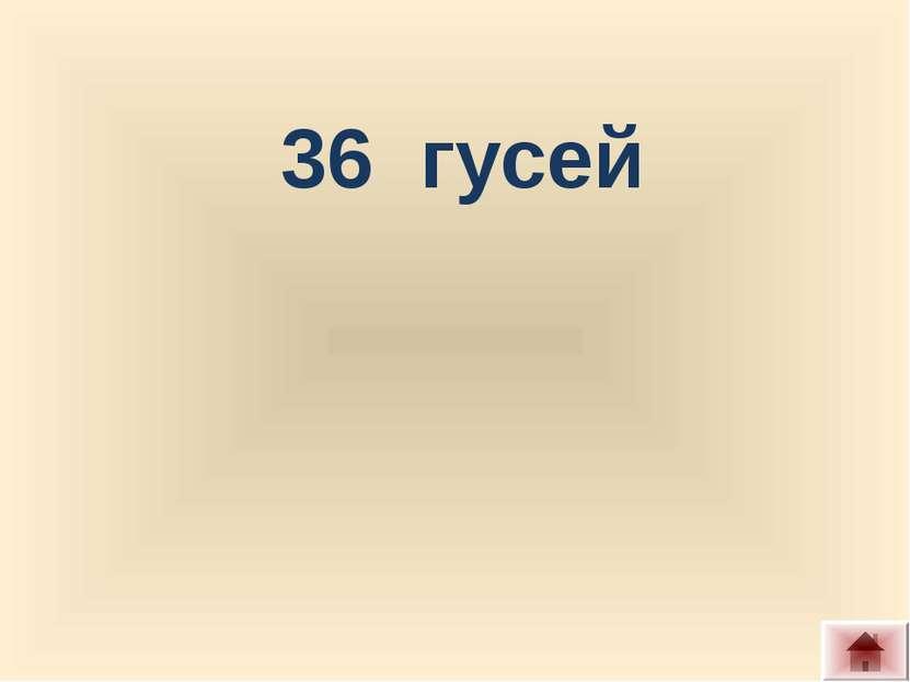 36 гусей