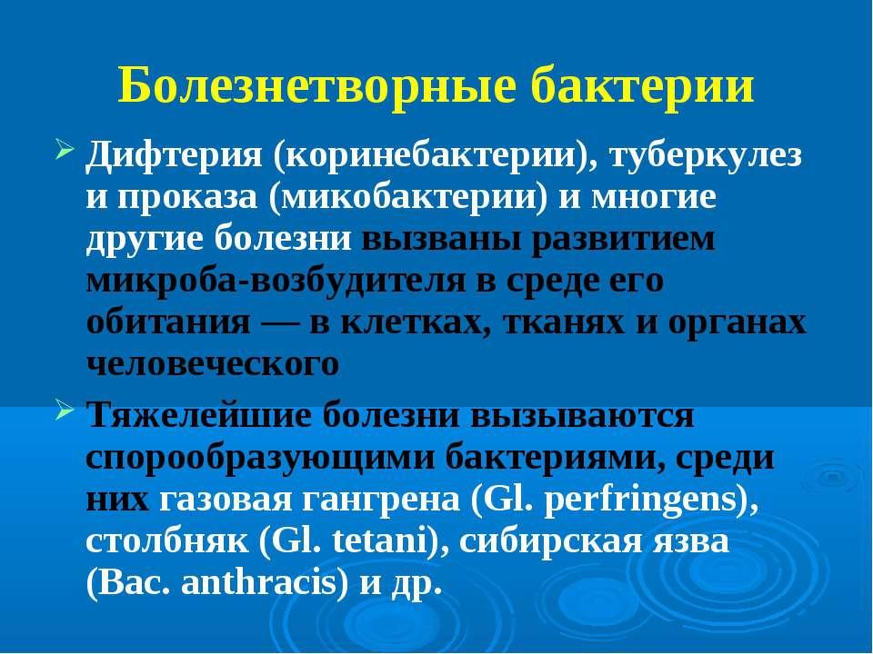 Болезнетворные бактерии Дифтерия (коринебактерии), туберкулез и проказа (мико...
