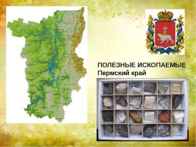 ПОЛЕЗНЫЕ ИСКОПАЕМЫЕ Пермский край