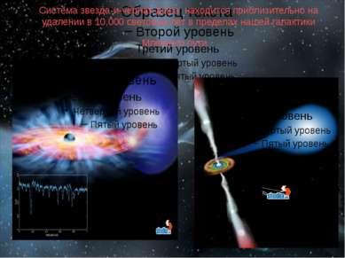 Система звезда-и-чёрная дыра находится приблизительно на удалении в 10,000 св...