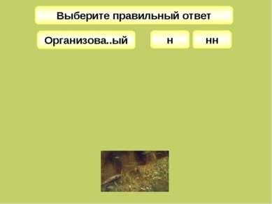 Выберите правильный ответ н Организова..ый нн