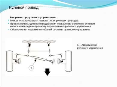 Рулевой привод Амортизатор рулевого управления. Может использоваться на всех ...
