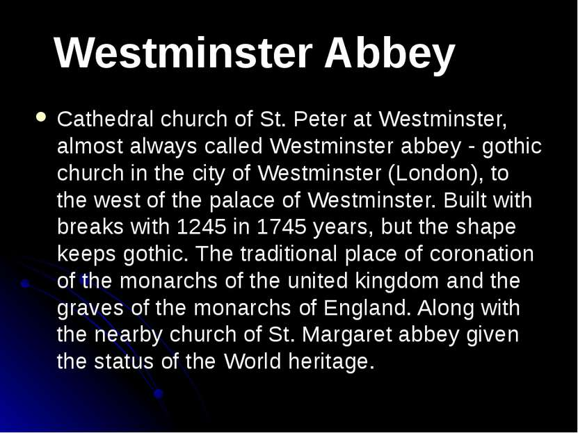 Cathedral church of St. Peter at Westminster, almost always called Westminste...