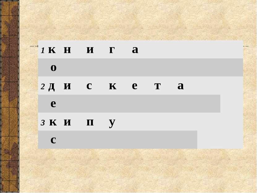 1 к н и г а о 2 д и с к е т а е 3 к и п у с