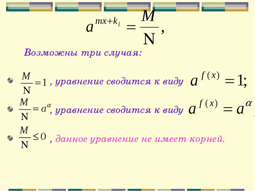 Возможны три случая: , уравнение сводится к виду , уравнение сводится к виду ...